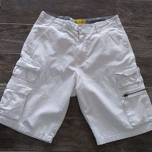 Plugg Jeans Cargo Shorts. White. Sz 32